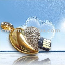 Heart Necklace crystal usb driver