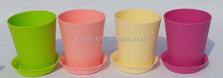 desktop plastic flower pot PP injection moulding plastic plant pot