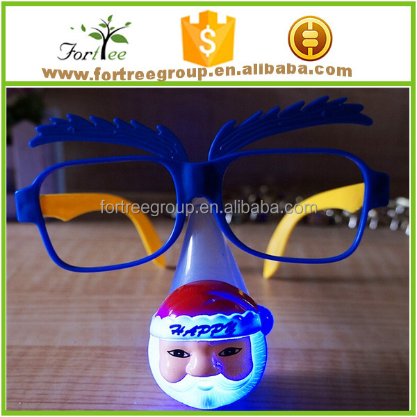 novelty christmas flashing glasses for funny