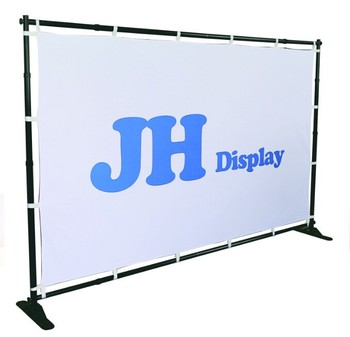 Large Format Telescopic Step Amp Repeat Backdrop Banner