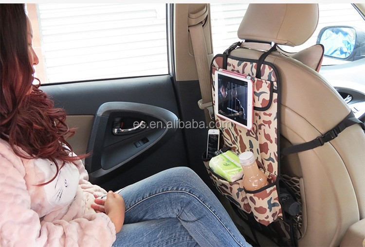 Army Green color auto back seat organzier