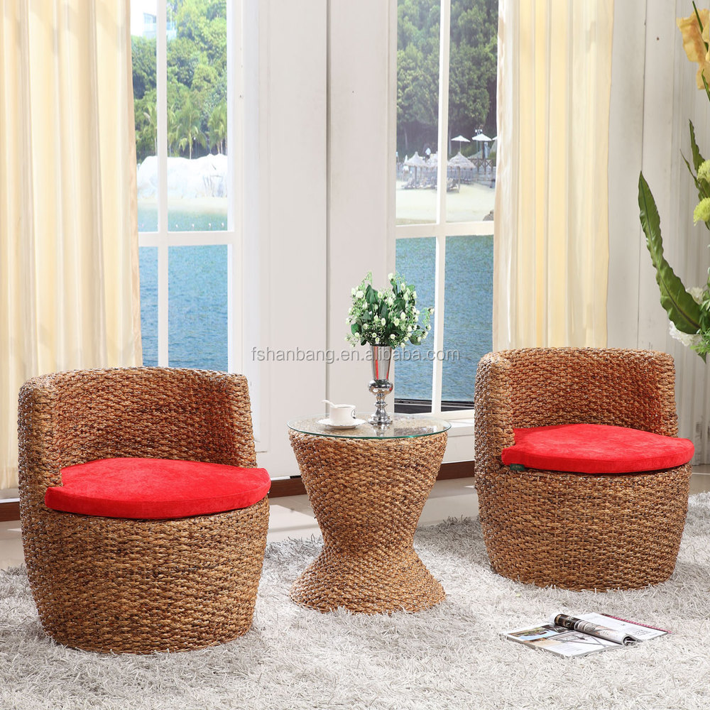 Wicker Living Room Sets Nice Design Hand Woven Classic Seagrass Natural Rattan Wicker