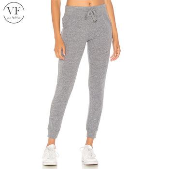 9d9025273e Guangzhou manufacture dark grey womens jogging pants for autumn