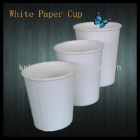 eco-friendly clear white disposable paper cups for soda,tea
