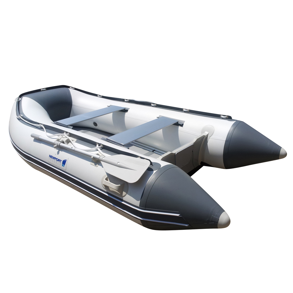 CE Certificated Heavy Duty 3 persons Inflatable Rowing Boat with Airmatress Floor