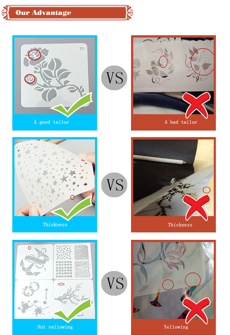 Wholesale Eco-friendly Plastic Drawing Stencil Sets for Kids and Scrapbooking