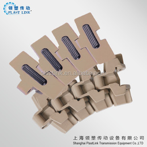 880 TAB Anti-slip rubber surface flex slat top conveyor chain for beverage assembly line