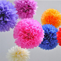 Hanging Wedding Party Favors Diy Paper Pom Pom Flowers