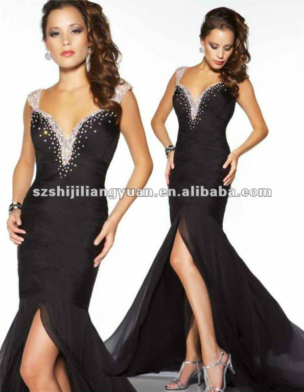 sj1088 new design low price wholesale custom bead evening gown