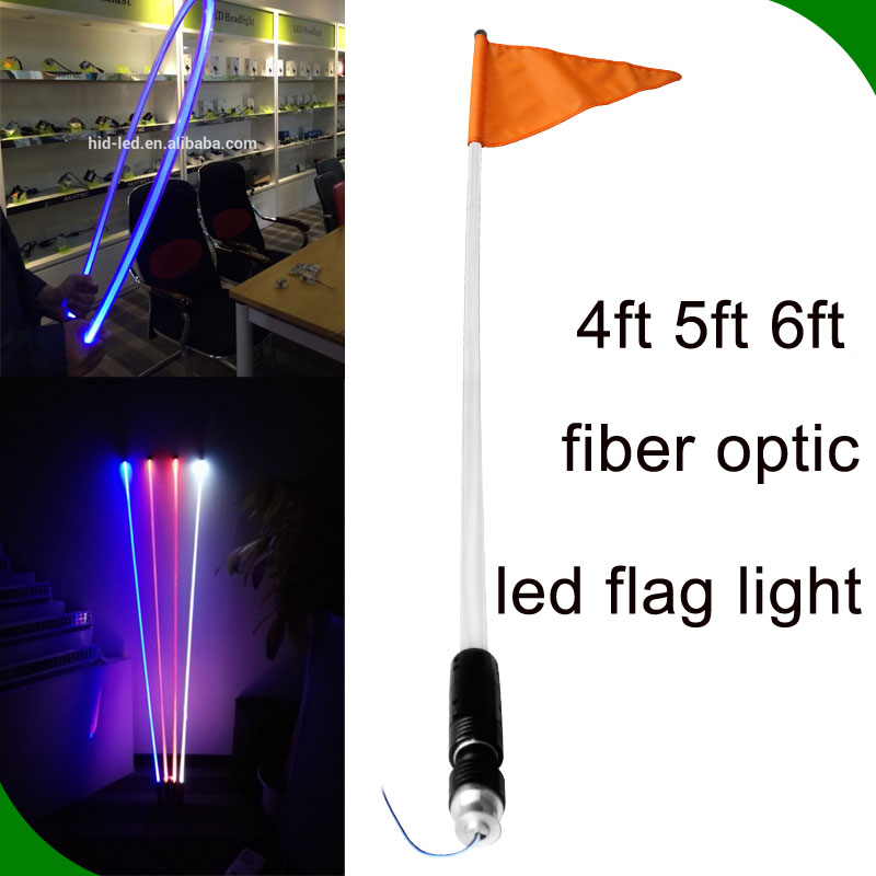 good quality led flag light 4ft 5ft 6ft 10w red blue orange white green RGB 12 volt led light bar