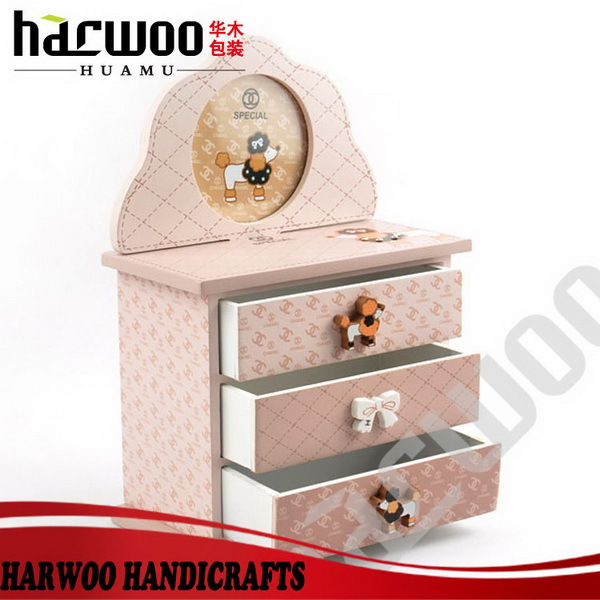 Unfinished Solid Wood Jewelry Display Box With Glass Lid ...