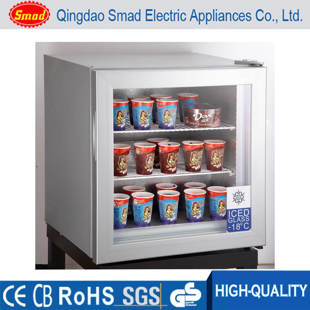 Freezer vertical pequeno sorvete exibi o congelador table for Congelador vertical pequeno