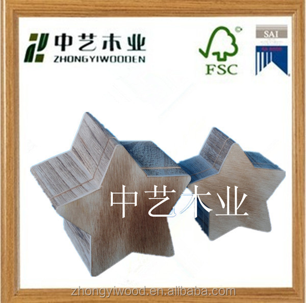 star shape custom art minds cheap unfinished small unfinished wooden boxes wholesale