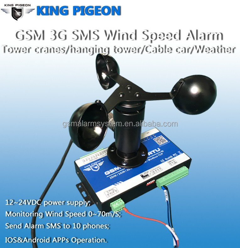 Gsm 3g Sms Wind Speed Alarm For Tower Cranes