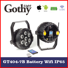 Factory Directly Gothylight 7 x 15 w wifi wireless led flat par can
