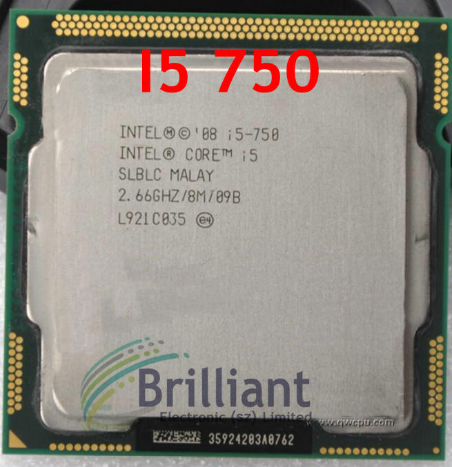 Intel Core i5-750 Quad-Core 2.66GHz 8M LGA1156 SLBLC Processor