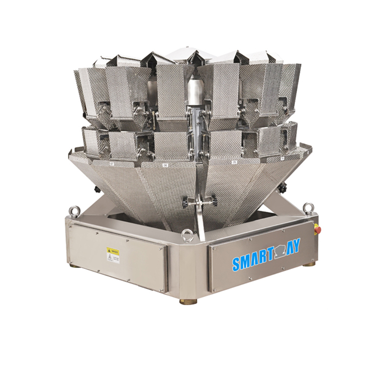 latest multihead weigher working waterproof for food packing-4