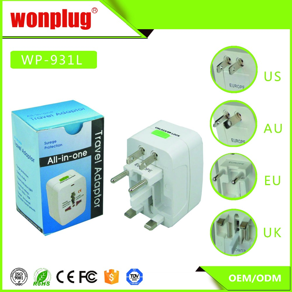 High quality multi adapter universal plug worldwide travel adapter business gifts