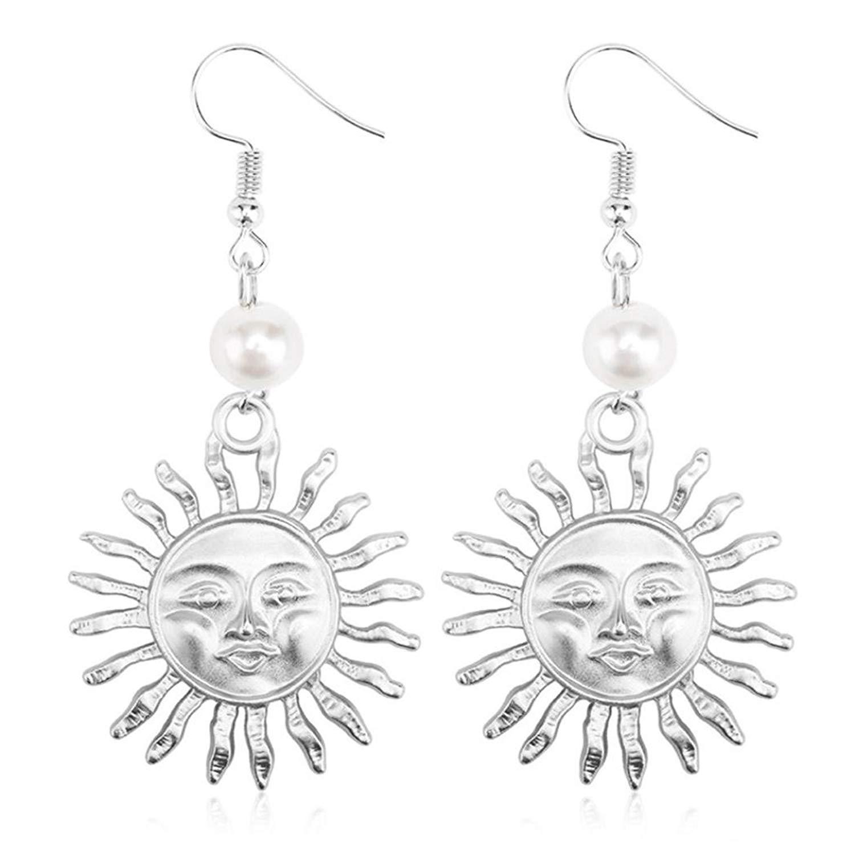 Buy Gyoume Dangle Earrings Creative Pearl Sun Flower Smiley Earrings