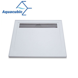 Hot sale slim bathroom polymarble Shower Tray Shower Base