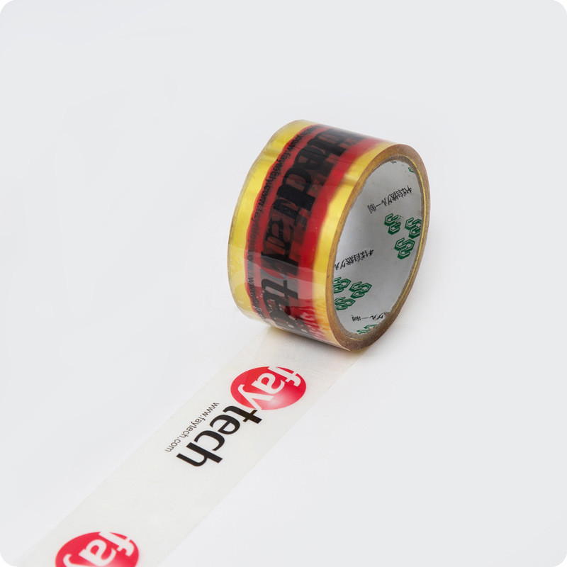 clear plastic boxes packing tape printed logo