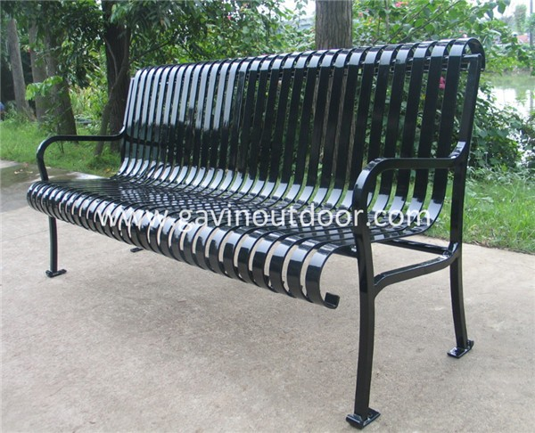 Powder Coated Park Bench Furniture Metal Outdoor Bench