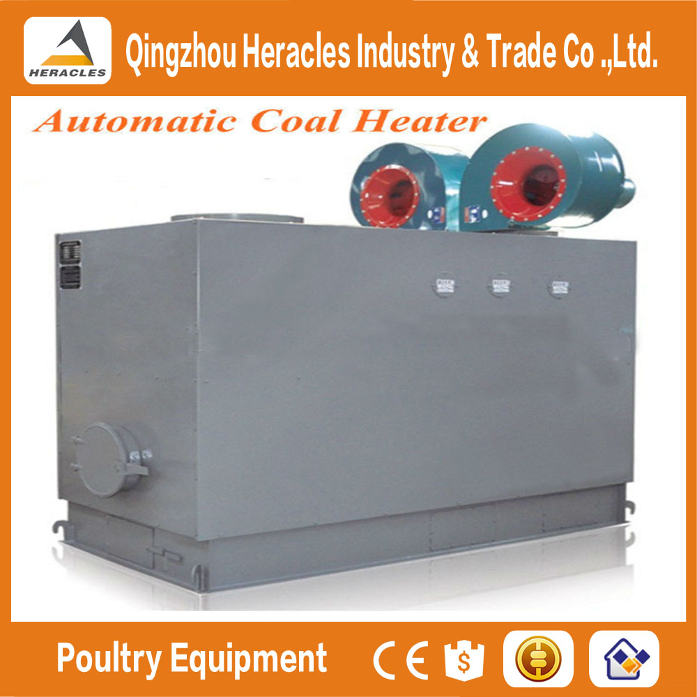 Heracles large greenhouse &poultry equipment coal filled fan heater stove