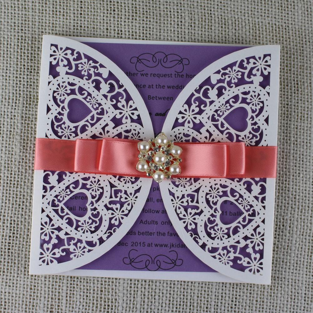 2016 New Design Box 3d Butterfly Scroll Wedding