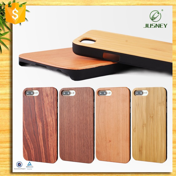 Mobile phone accessories,genuine hand made wood phone case for iphone 7 cover