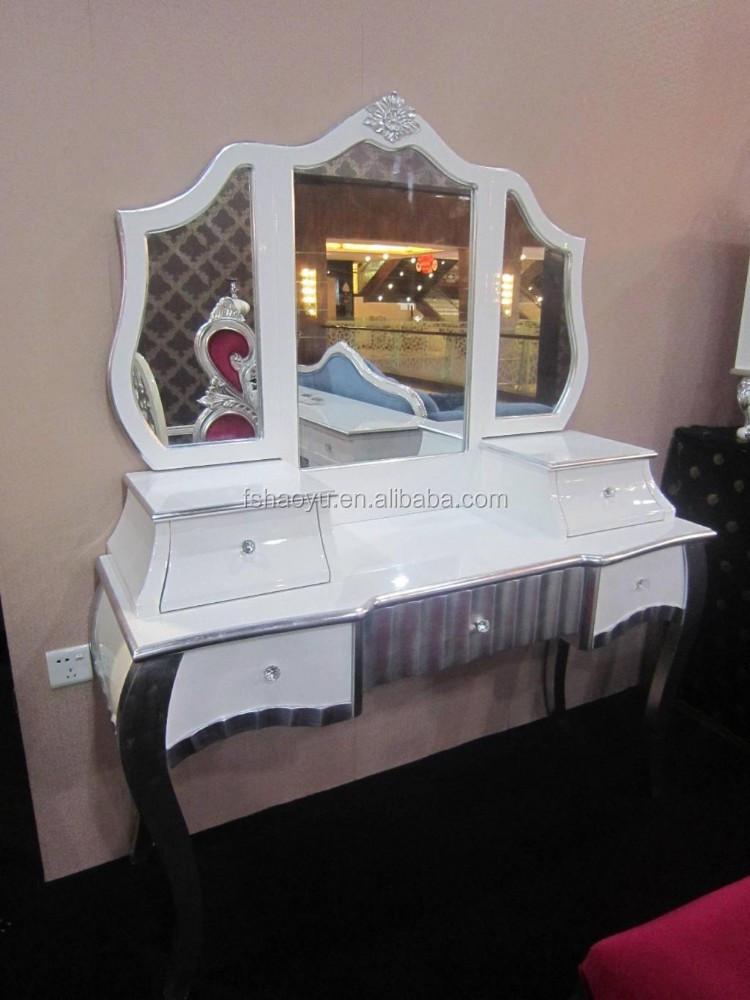 Slaapkamer kast en dressoir console tafel zilver make up for Dressoir slaapkamer