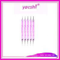 YAESHII 5pcs/set nail polish gel brush acrylic handle nail application tool