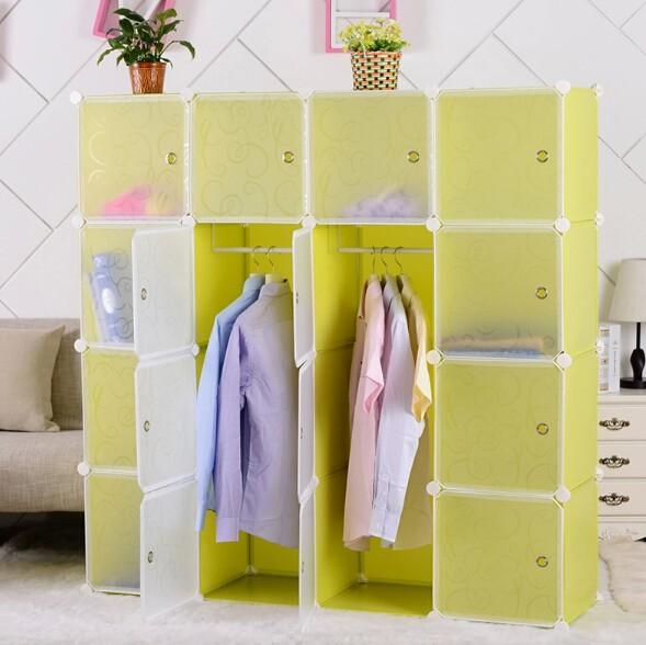 diy kunststoff faltbare diy schrank kleidung gro e. Black Bedroom Furniture Sets. Home Design Ideas