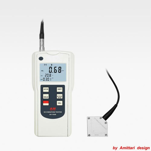 Portable 3D Vibration measuring instrument