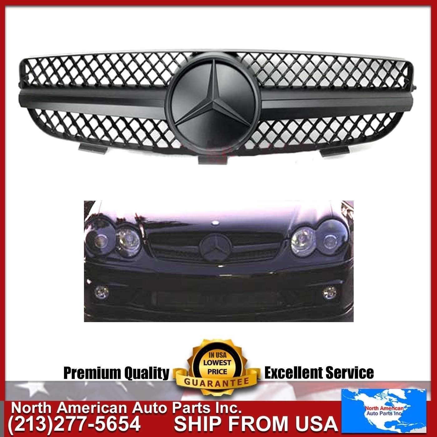 Cheap Benz Clk500 Find Deals On Line At Alibabacom Fuel Filter Mercedes 1998 C4 3 Get Quotations Clk 2003 2009 W209 Matte Black Grille Amg Style With Oem Star