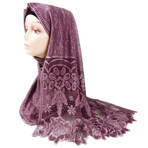 Wholesale Fashion Hot Muslim Women lady scarf tassel polyester gorgeous hijab