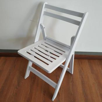 New Garden Resin Folding Chair with Slat Back