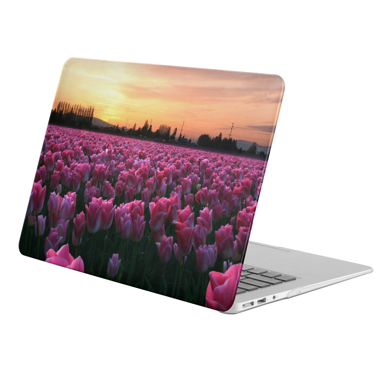 """KINGCASE - Macbook Pro 13-inch 13"""" (Model: A1278 ONLY!!!) - full body hard case - Earth Tulip Flowers Field Pink Flower Flower"""