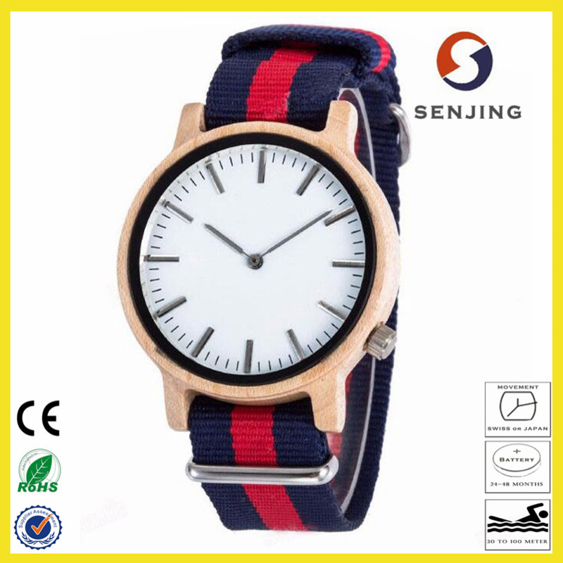 2017 wholesale unisex wood watch casual custom logo bamboo wood watch with quartz movement