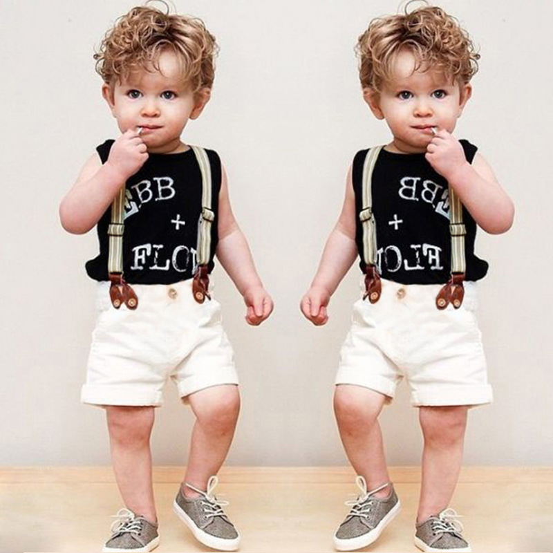 7220bd260 W6109 Wholesale summer kids boys clothes set Baby boy clothes fashion  toddler baby outfit