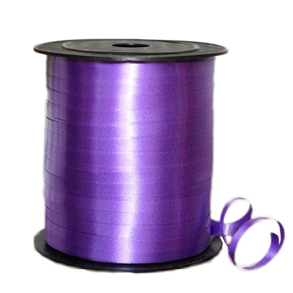 Da.Wa Decorative Balloon Strap Curling Crimped Ribbon Roll Gift Wrapping Ribbon String Craft Ribbon for Sewing Crafts (Purple)