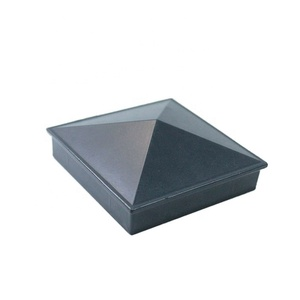 "Aluminum Fence Post Cap Pyramid caps for Pack Decorative Aluminum - Mailbox, Lam 3"" square post"