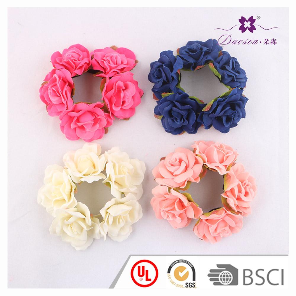 Fancy Handmade Rose Flower Ponytail Holder Hair Scrunchies - Buy ... 8ef4b09e8d4