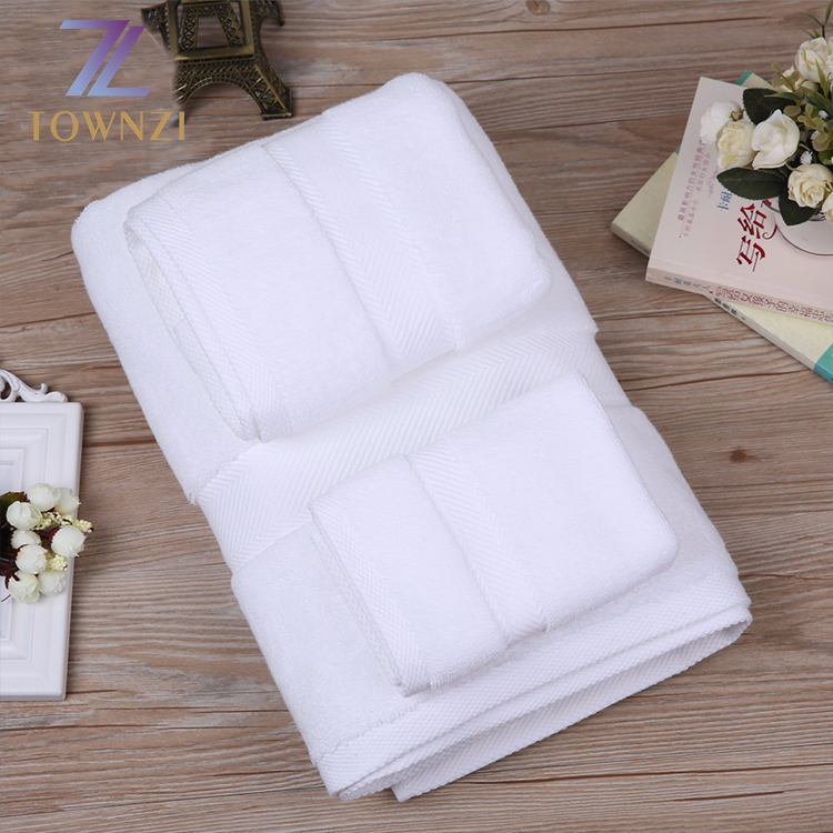 Best Quality 5 Star Hotel Used White Egyptian Cotton Bath Towel Sets China Microfiber Towel
