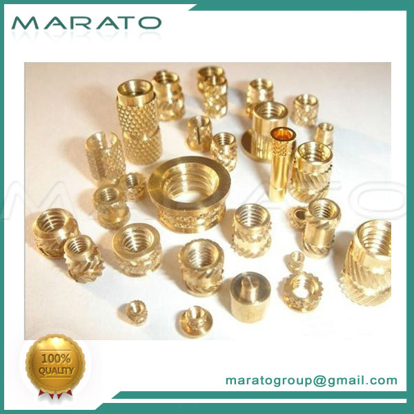 brass tube with inner and outer thread