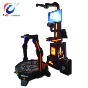 Amusement park equipment 9d virtual reality walker ,vr shooting running games simulation machine