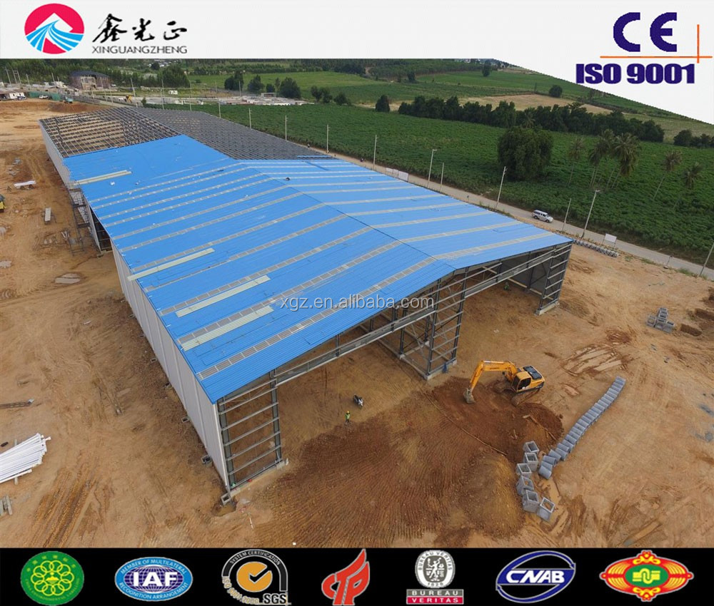 High Quality Africa Project Prefab Steel Warehouse/Factory/Shed