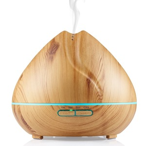 Amazon Best Seller 400ML Wood Grain Ultrasonic Aromatherapy Diffuser Whisper Quiet Cool Mist Humidifier For Essential Oils