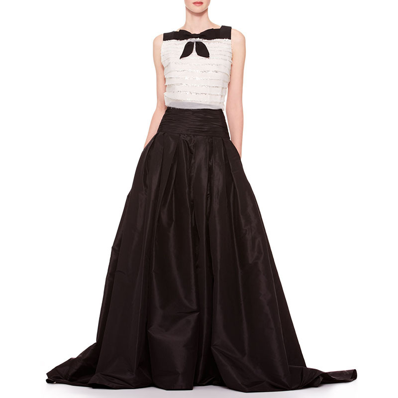 b8c8ac8d1 Get Quotations · Maxi Long Skirt Vintage Black Floor-length Women Skirts  Andrey Hepburn LBD Pleated Skirt Ball