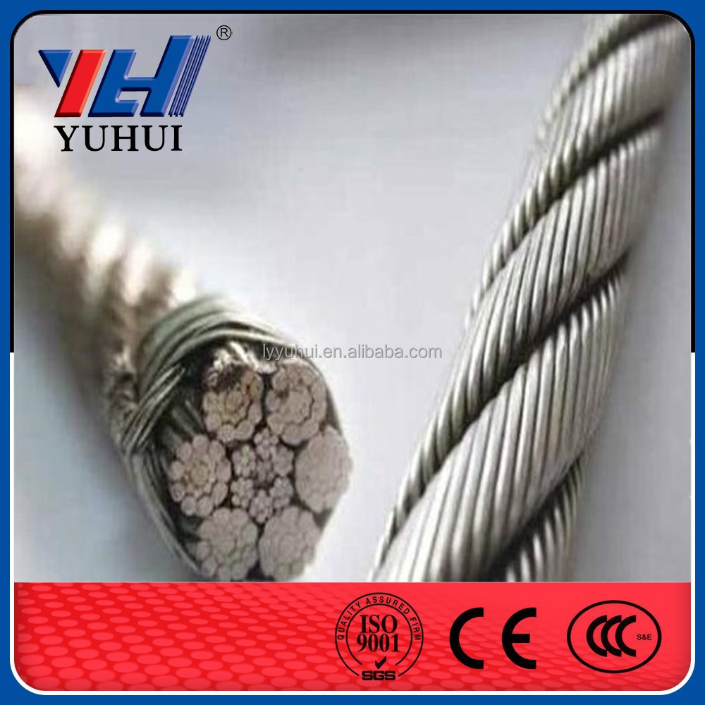 cable Hot dipped galvanized steel wire rope for Korea(manufacturer)