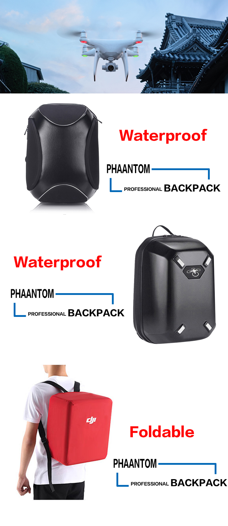 original mavic pro fly more combo professional protection waterproof backpack drone Accessories and parts